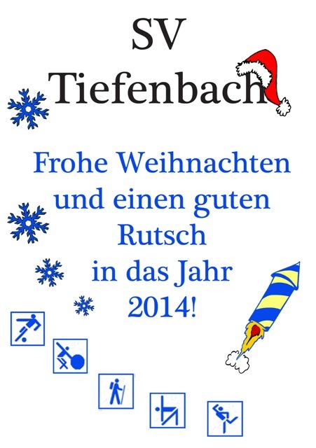Weihnachtsanzeige 2013